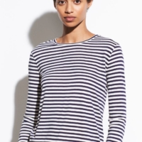 Midi Stripe Long Sleeve Top