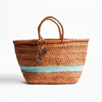 Bucket Leather Weaved Bag