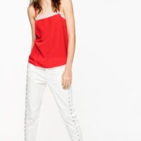 Red Carmen Carago Camisole Top