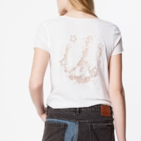 White Story Fishnet T-Shirt