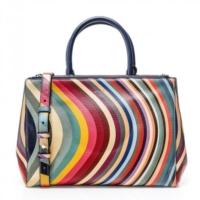 Swirl Print Tote Bag
