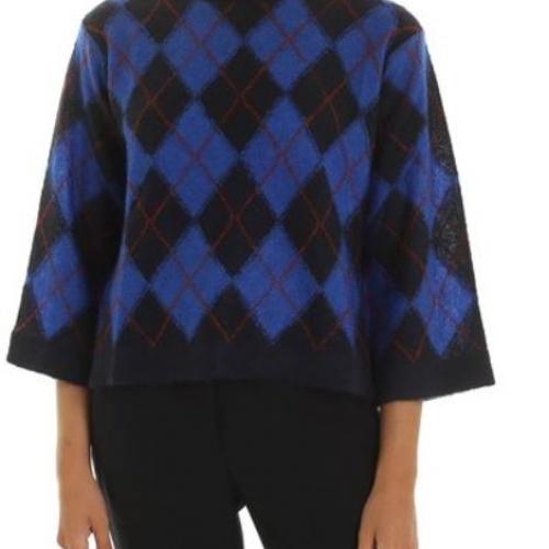 Argyle Roll Neck Sweater