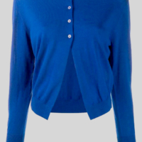 Cobalt Blue Buttoned Cardigan
