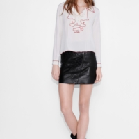 Jules Leather Skirt