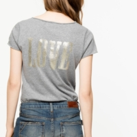 Tunisien Glitter 'Love' Top