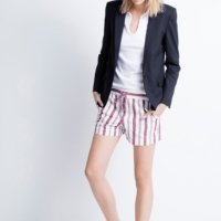 Red Striped Paro Raye Short