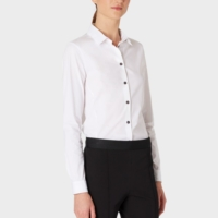 Slim Fit Shirt with Contrasting Cheetah Print Cuff Lining