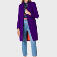 Purple Epsom Long Coat