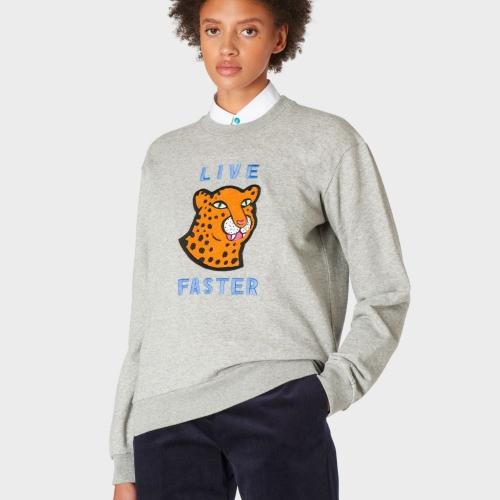 Grey Cheetah Patch Sweatshirt