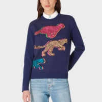 'Live Faster' Jacquard Knitted Sweater
