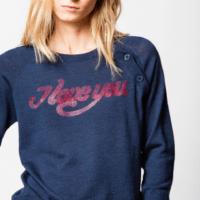 Blue Reglis Sweater 'I LOVE YOU'