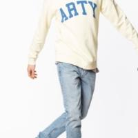 Pale Yellow Steeve Print Sweatshirt