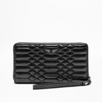 Black Compagnon Matte Scale Wallet