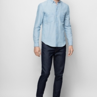 Light Blue Sigmund Chambray Shirt
