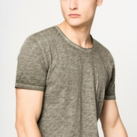 Khaki Toby Cold Dyed T-Shirt