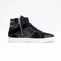 Black High Top Embellished Sneaker