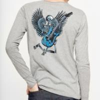 Melange Grey Monastir Skull T-Shirt