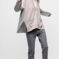 Dusty Pink & Grey Scarlett Cardigan