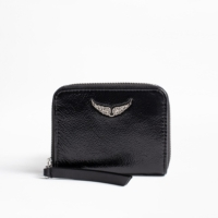 Black Mini Patent Wallet