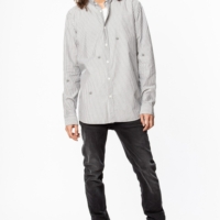 Grey Saly Stripe Shirt