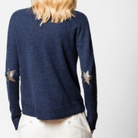Cici Sweater Patch Sweater