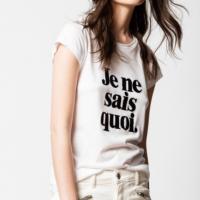 White Skinny T-Shirt 'Je ne sais quoi'