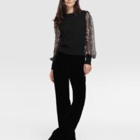 Black Velvet Palazzo Trousers