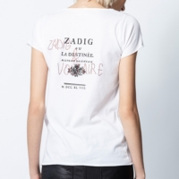 White Destinee Strass Henley T-Shirt