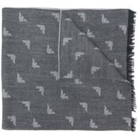 Grey Logo Jacquard Scarf
