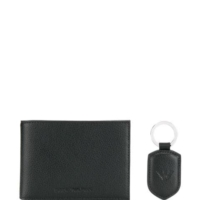 Black Wallet and Keyring Set