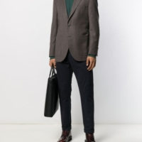 Charcoal Flannel Blazer