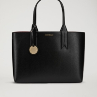 Black Tote Bag with Logo Badge