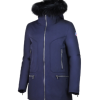 Navy Eridan Fur Jacket