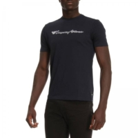 Navy Embroidered Script Logo T-Shirt