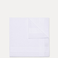 White Solid border handkerchief-Pack of 3