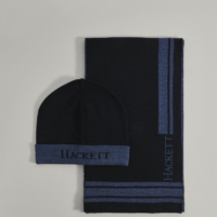 Navy Scarf & Beanie Gift Set
