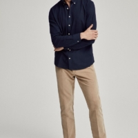 Navy Garment-dyed Oxford Shirt