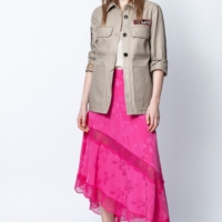 Fuschia Juliet Jac Paisley Print Skirt