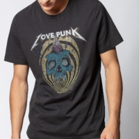 Charcoal Ted Punk Skull T-Shirt