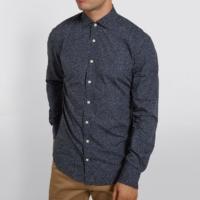 Navy Olive Print Shirt