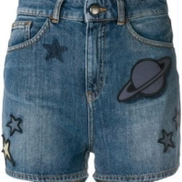 Blue Universe Denim Shorts