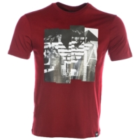 Red Seoul City Print T-Shirt