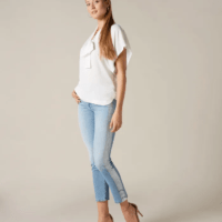 Silver Brushed Roxanne Ankle Jeans
