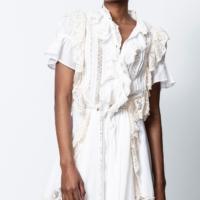 White Rank Ruffle Dress *Fashion Show*