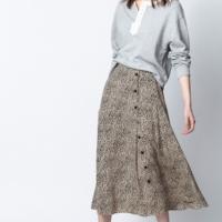 June Leo Print Skirt