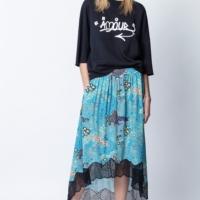 Turquoise Joslin Glam Rock Skirt