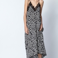 Risty Heart Print Dress