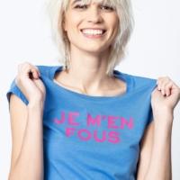 Azure Blue Skinny JMF T-Shirt