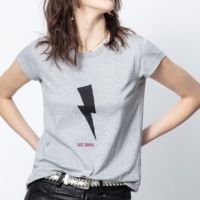 Grey Flashlight 'Just Zadig' Skinny T-Shirt