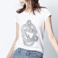 Off-White Strass Skull Snake Skinny T-Shirt